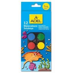 Краски акварельные Adel 24 мм (229-0933-000) (12 цветов)