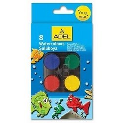 Краски акварельные Adel 24 мм (229-0934-000) (8 цветов)