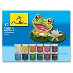 Гуашь Adel 15 мл (234-0612-000) (12 цветов)