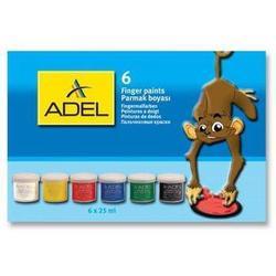 Краски для рисования пальцами Adel (234-0620-000) (6 цветов)