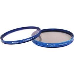 Набор фильтров для объектива с диаметром резьбы 58мм (Polaroid MC UV+CPL PLFILUVCPLKBL58) (синий)