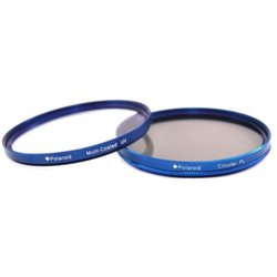 Набор фильтров для объектива с диаметром резьбы 67мм (Polaroid MC UV+CPL PLFILUVCPLKBL67) (синий)