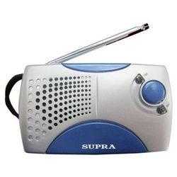 Радиоприемник SUPRA ST-113 (серебристый/голубой)