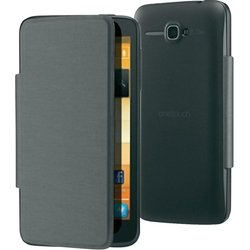 чехол-книжка для alcatel one touch x'pop (f-gcgb16t0a12c1-a1) (черный)