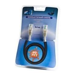 ��������� ����-���� rj-45 - rj-45, ���. 5e, 26awg, 10 � gold (pc pet cat5egf-100)