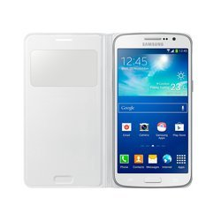 чехол-книжка для samsung galaxy grand 2 g7102 (ef-cg710bwegru s-view) (белый)