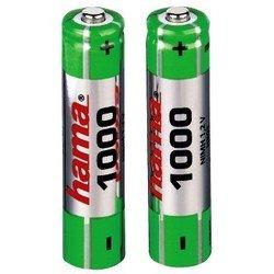 Аккумуляторная батарея AAA (Hama H-87088) (1000 мАч, 2 шт)