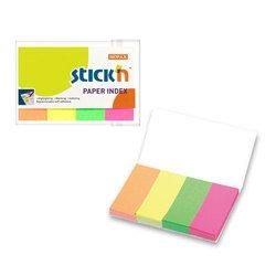 Набор самоклеящихся неоновых закладок Hopax из бумаги 50*20 4*50 4 цвета
