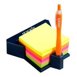 Куб Hopax 21272 неоновый 4цвета в пластиковой подставке 76*76 400л