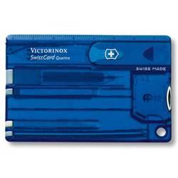 Швейцарская карта Victorinox SwissCard Quattro Sapphire 0.7222.T2 14 функций полупрозрачный синий