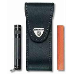 Чехол Victorinox 4.0523.32 кожа для ножей 111мм с отделением для фонаря и точильного камня черный