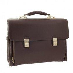 Портфель Tuscans с отделением д/ноутбука 42x31x18см коричневый натур кожа (TS-083-174)