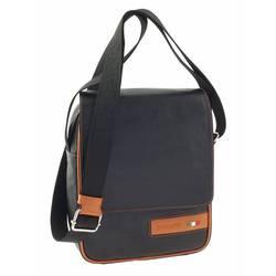 Сумка-планшет Tuscans 20x26x6см черный натур кожа отд оранжевая (TS-20001-087)