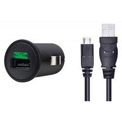 Автомобильное зарядное устройство 1A + кабель microUSB (Belkin F8M127CW03) (черный)