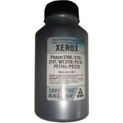 тонер для xerox phaser 3100, 3110, 3117, workcentre 3119, pe16, pe114e, pe220 (superfine sf-3100-80) (черный) (80 гр)