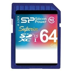 Silicon Power Superior SDXC UHS Class 3 Class 10 64GB