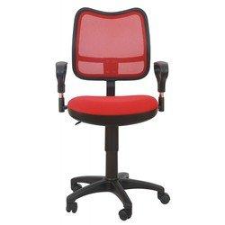 Кресло Бюрократ CH-799/R/TW-97N спинка ярко-красный сетка TW-35N сиденье красный TW-97N