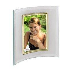 Фоторамка Hama H-100974 Alisea портретная 10x15см полукруглая форма стекло золотистый