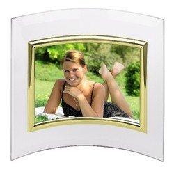 Фоторамка Hama H-100976 Alisea альбомная 10x15см полукруглая форма стекло золотистый