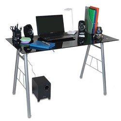 Стол для компьютера Бюрократ GD-012/Black черный