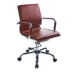 Кресло руководителя Бюрократ CH-993-Low (коричневый, искусственная кожа)
