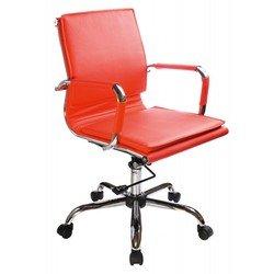 Кресло руководителя Бюрократ CH-993-Low (красный, искусственная кожа)
