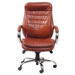 Кресло руководителя Бюрократ T-9950AXSN (коричневый, кожа)