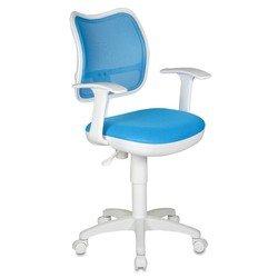 Кресло Бюрократ CH-W797/LB/TW-55 (светло-голубой, пластик белый)