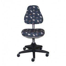 Кресло детское Бюрократ KD-2/G (темно-серый лошадки)