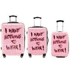 Набор Snapshots H-119557 из 3-х чемоданов Nothing to Wear: 78 л/52 л/30 л поликарбонат розовый