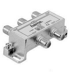 Антенный разветвитель F-штекер (f) - 4xF-штекер (f), 5-860 МГц, 75 Ом (Hama H-44125)