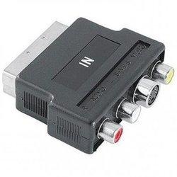 Адаптер Scart (m) - S-video (f)+3xRCA (f) (Ningbo) (черный)