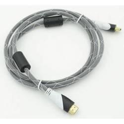 Кабель HDMI - HDMI Ver.1.4 ферритовые кольца, Gold 1.8м (черный)