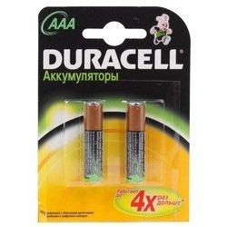 Аккумуляторная батарея AAA (Duracell HR03-2BL) (750 мАч, 2 шт)