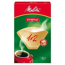 Фильтры бумажные Melitta 1x2/40 шт., для кофе, белые
