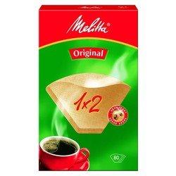 Фильтры бумажные Melitta 1x2/80 шт., для кофе, коричневые