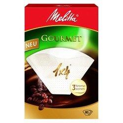 Фильтры бумажные Melitta Gourmet (c тремя арома-зонами) 1х4/80 шт., белые