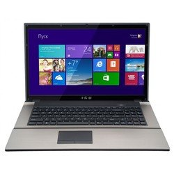 "ноутбук iru patriot 704 celeron 1005m/4gb/500gb/dvdrw/hdg/17.3\\""/hd+/1366x768/win 8.1 sl 64/grey/bt2.0/6c/wifi/cam"