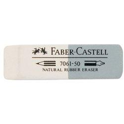 Ластик Faber-Castell 7061 186150 двусторонний из каучука для графит. карандашей и чернил серо-белый