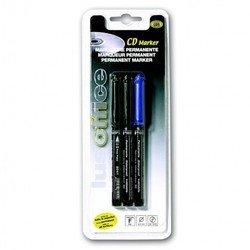 Набор маркеров Mondial Lus OFFICE 80038 для CD/DVD 3шт (2 черн + 1 син)