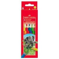 Карандаши цветные Faber-Castell Jumbo 111206 в картонной коробке 6 цветов