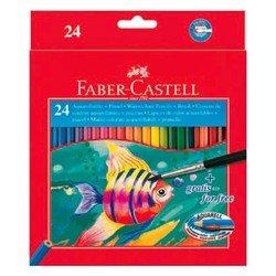 Карандаши акварельные Faber-Castell Colour Pencils 114425 с кисточкой в картонной коробке 24 цвета