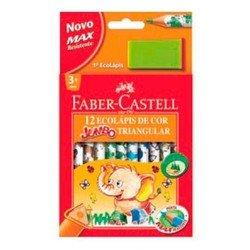 Карандаши цветные Faber-Castell Jumbo Triangular 116550 с точилкой в картонной коробке 12 цветов