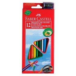 Карандаши цветные Faber-Castell Eco 120523 с точилкой в картонной коробке 12 цветов