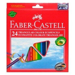Карандаши цветные Faber-Castell Eco 120524 с точилкой в картонной коробке 24 цвета