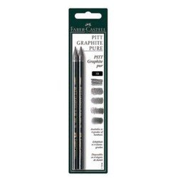 Карандаши чернографитовые Faber-Castell Pitt 117397 твердость 6B  2шт
