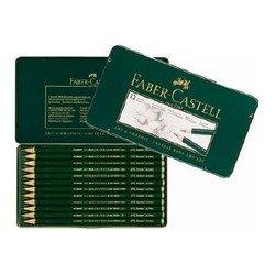 Карандаши чернографитовые Faber-Castell Castell 9000 119065 12шт в металлической коробке
