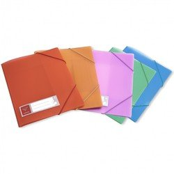 Папка на резинке Бюрократ CRYSTAL CR510 (оранжевый)