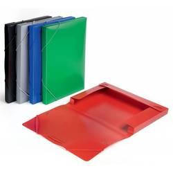 Пластиковая папка-короб на резинке A4 (Бюрократ BA25/05grey) (серый)