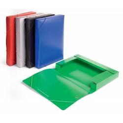 Пластиковая папка-короб на резинке A4 (Бюрократ BA40/07grey) (серый)
